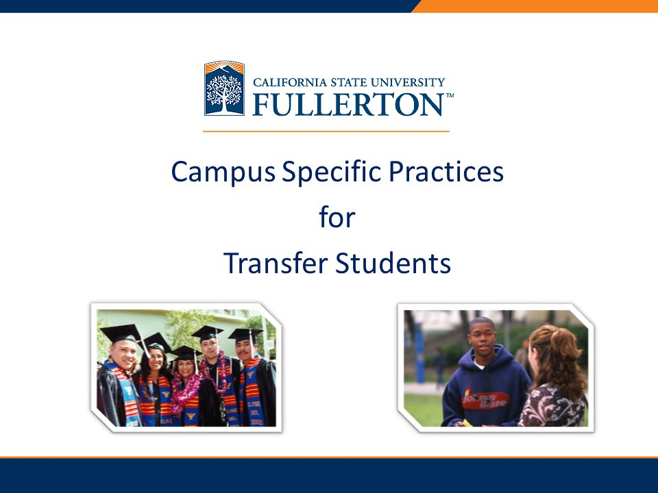 Campus Specific Practices for Transfer Students