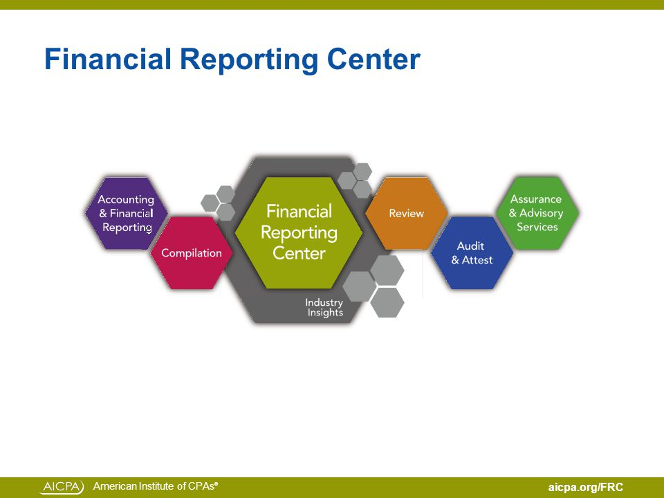 American Institute of CPAs ® aicpa.org/FRC Financial Reporting Center