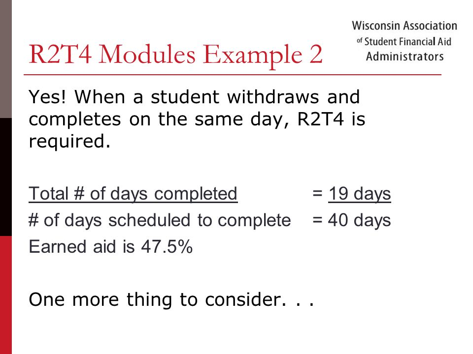 R2T4 Modules Example 2 Yes.