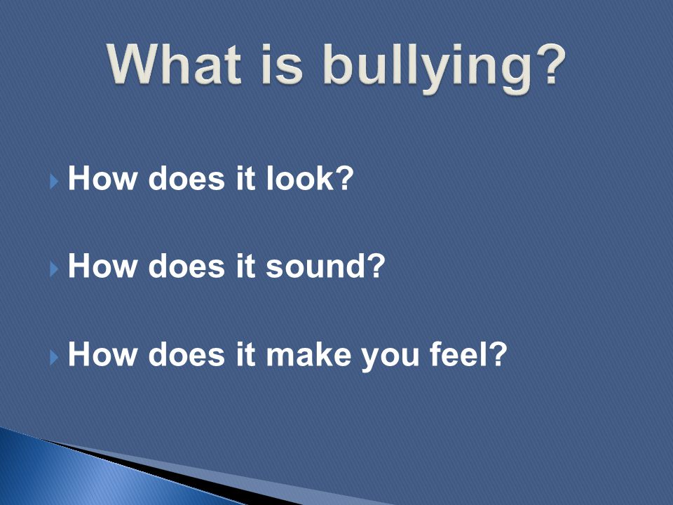 ARE YOU a victim of adult bullying.
