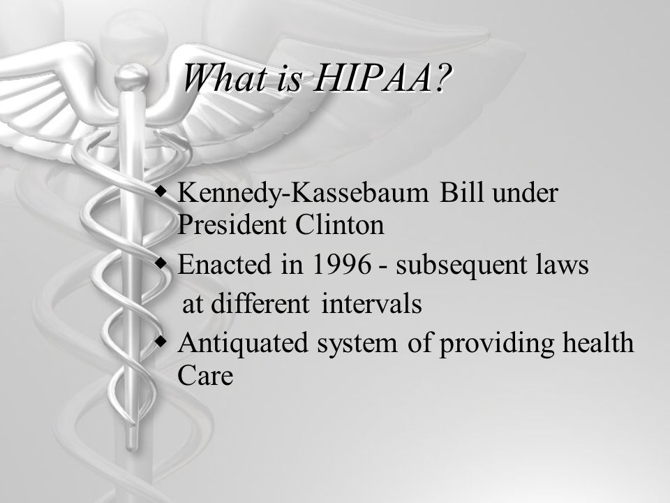 HIPAA II-HITECH Rule  Snail mail requirement  A healthcare organization would have to send out a first- class letter to any patients who might have been affected by a breach.