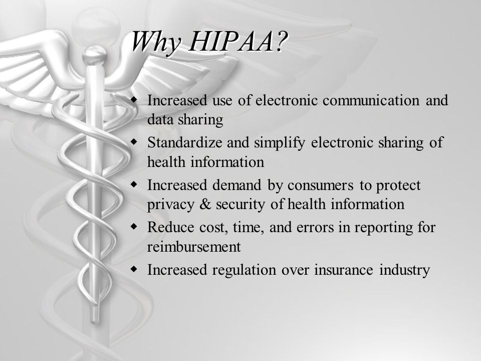 Who does HIPAA apply to.