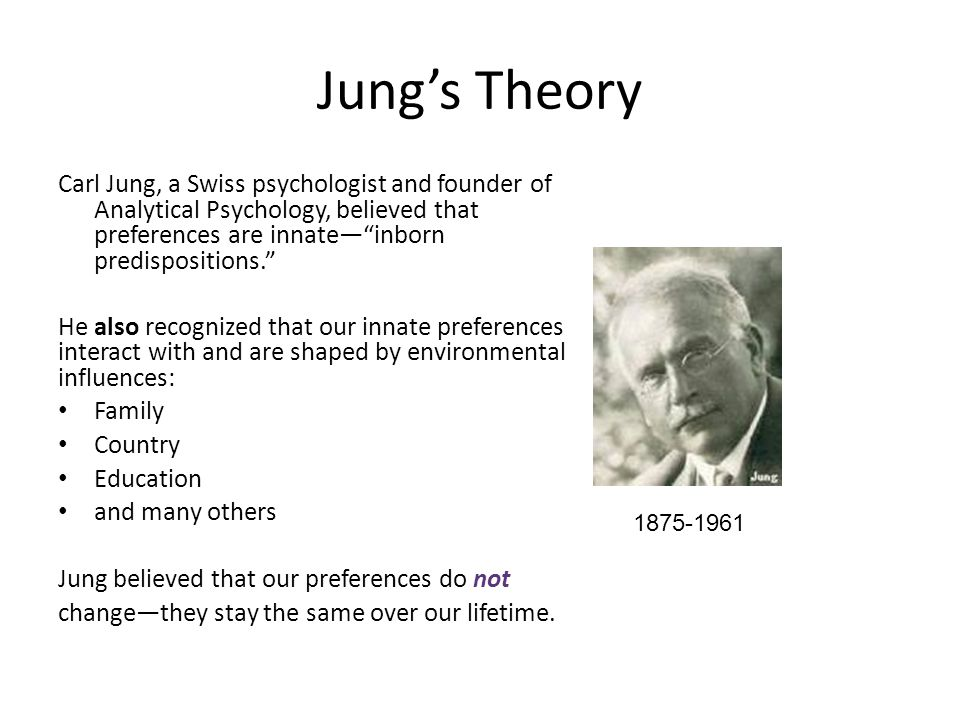 Inborn Predispositions Activity To illustrate Jung's: 1. 2.
