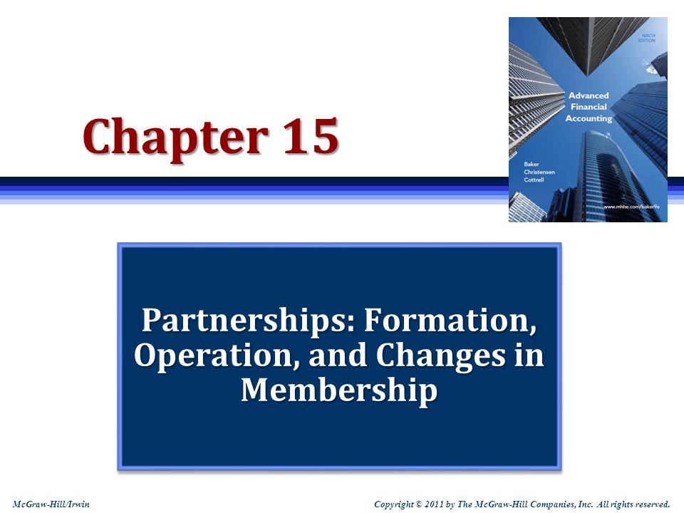 15-22 Comprehensive Partnership Creation Problem 1.Profit and loss ratios.