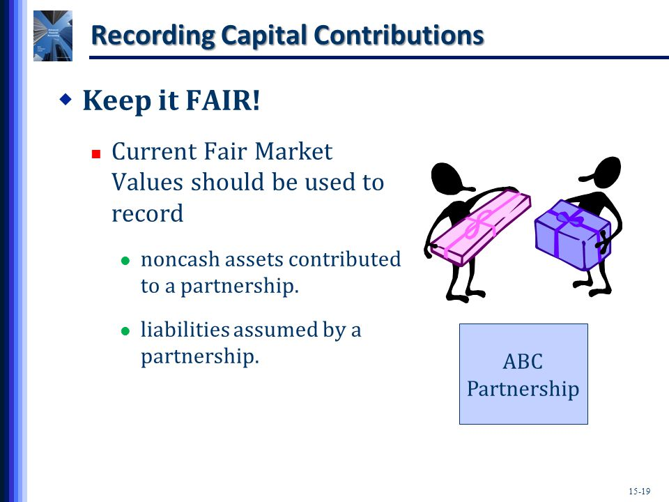 15-19 Recording Capital Contributions  Keep it FAIR.