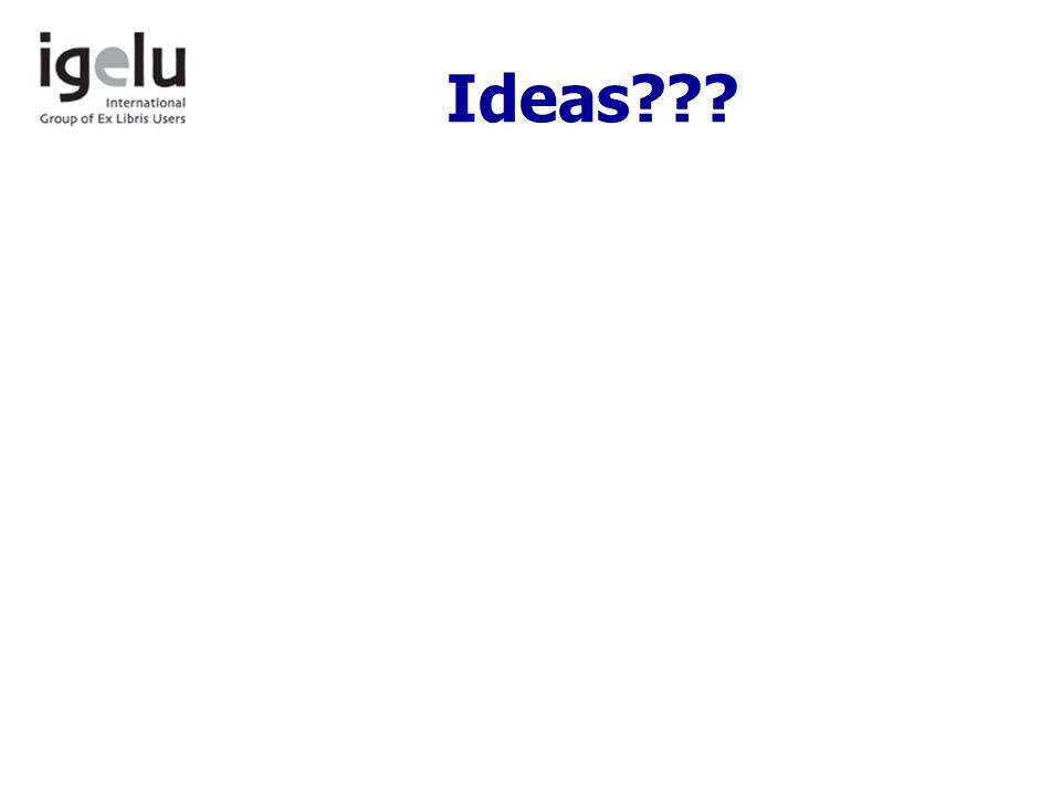 Ideas???