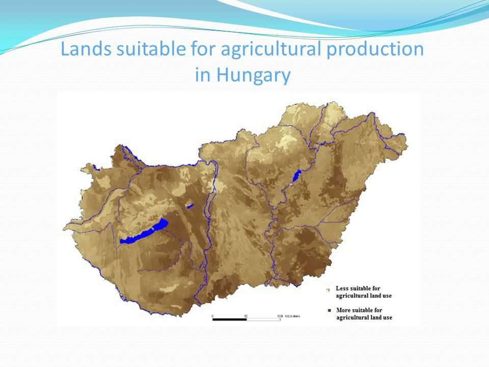 Lands suitable for agricultural production in Hungary