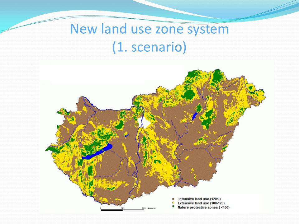 New land use zone system (1. scenario)