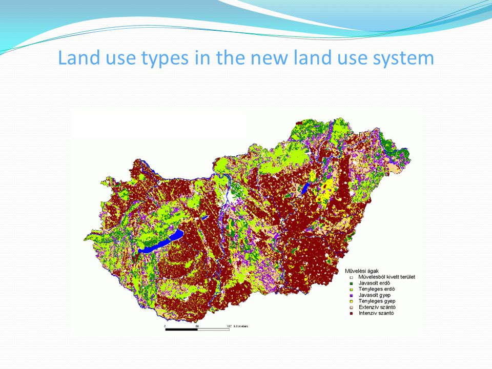 Land use types in the new land use system