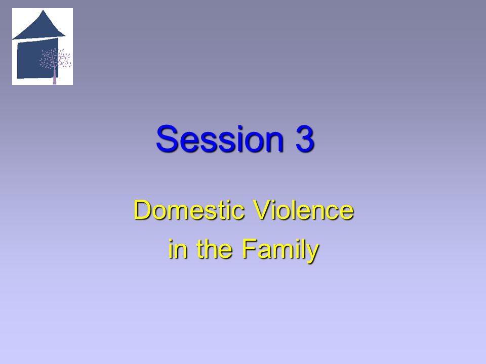 Session 3 Domestic Violence in the Family