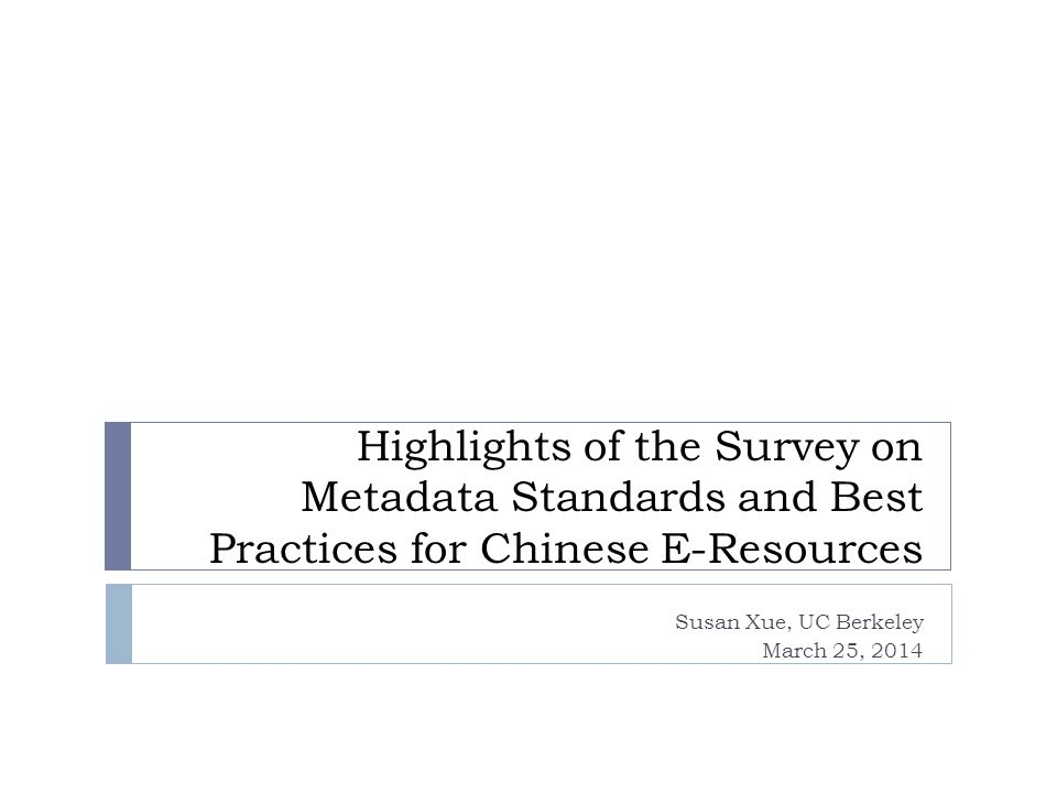 Librarians responses – standards followed and hope vendors to follow What standards and best practices your providers currently follow.