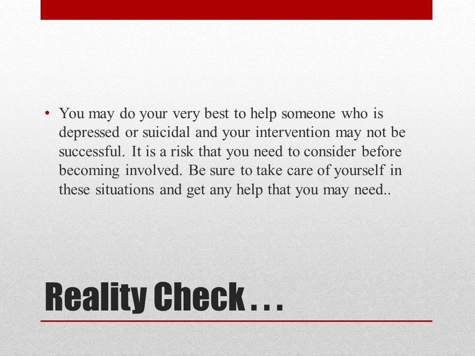Reality Check...