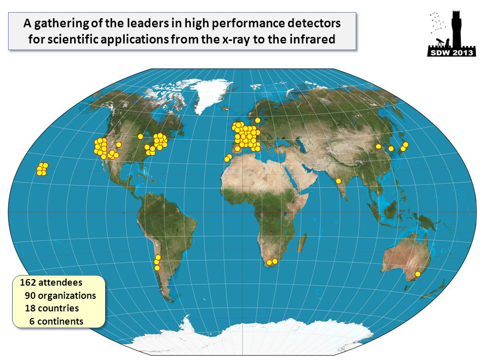 A gathering of the leaders in high performance detectors for scientific applications from the x-ray to the infrared A gathering of the leaders in high