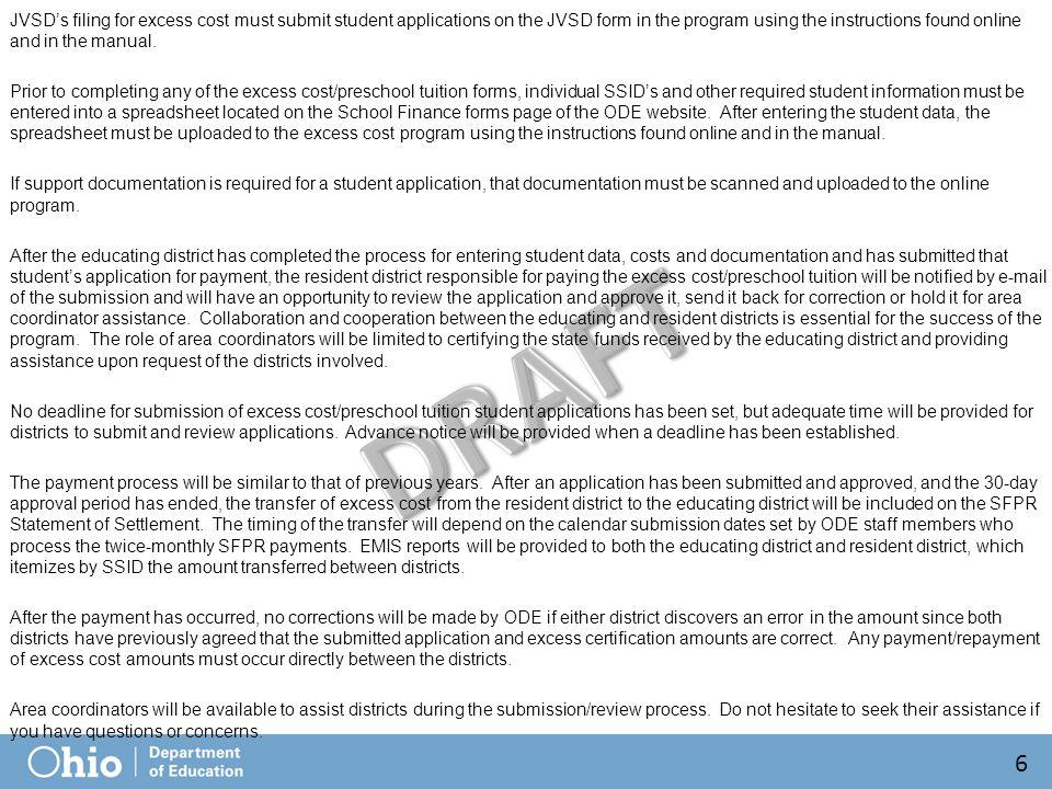 Excess Cost Certification (Preschool) 87