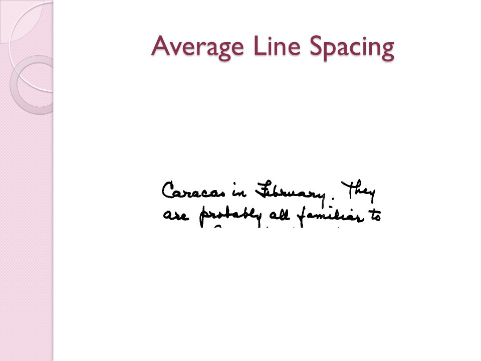 Average Line Spacing