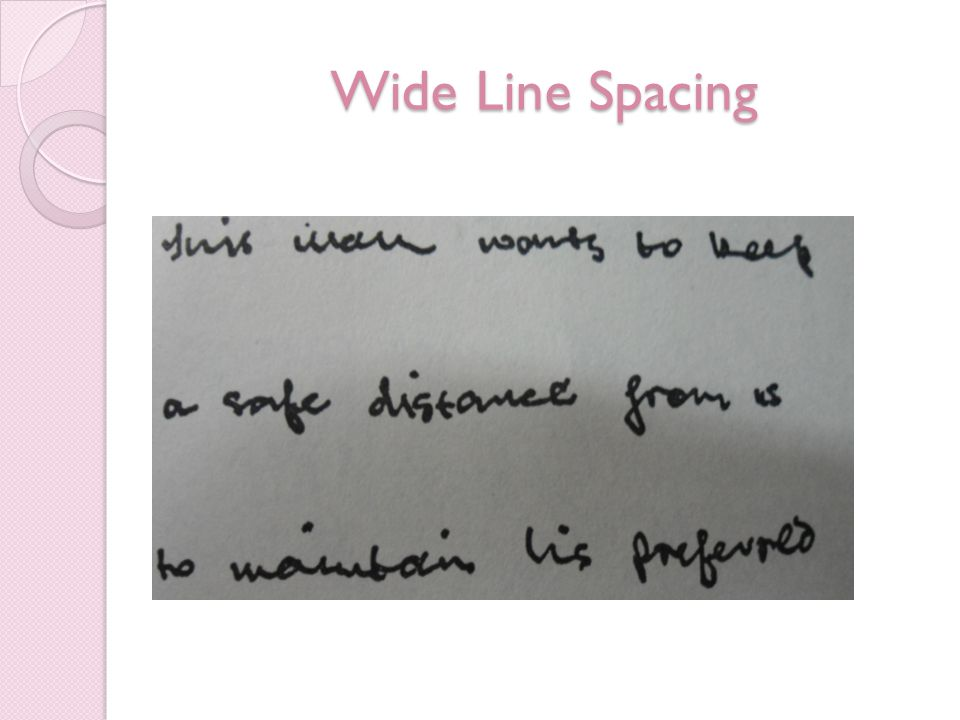 Wide Line Spacing