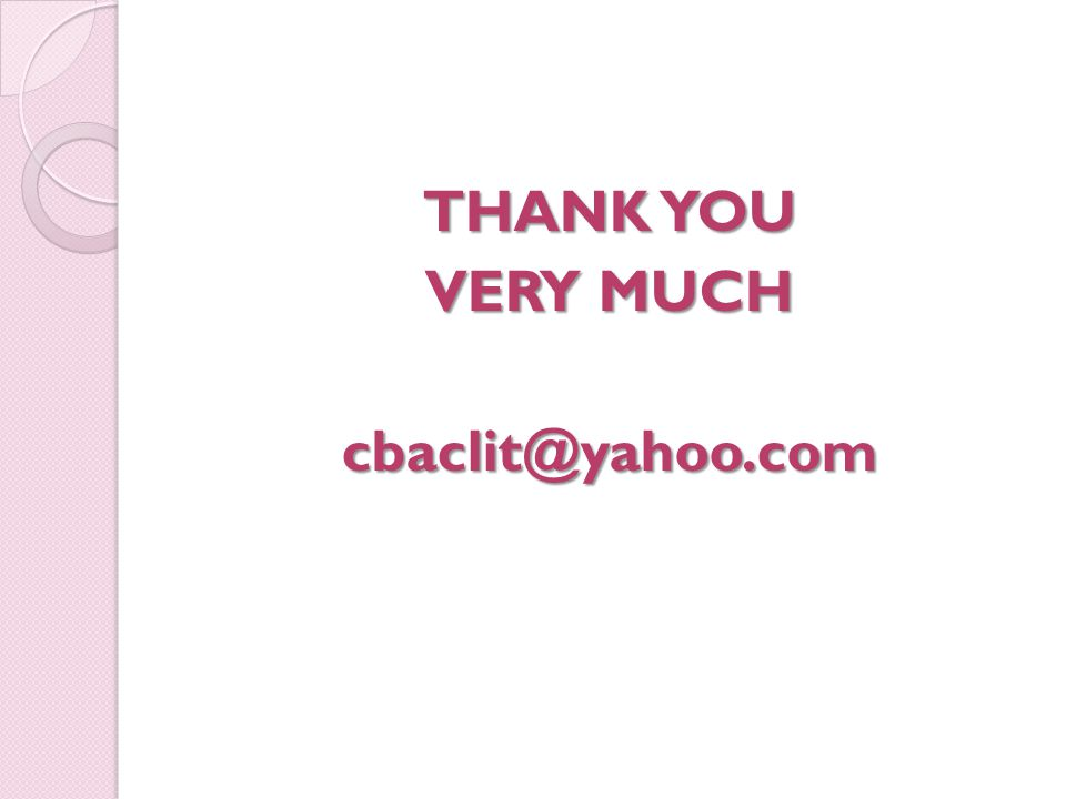 THANK YOU VERY MUCH cbaclit@yahoo.com