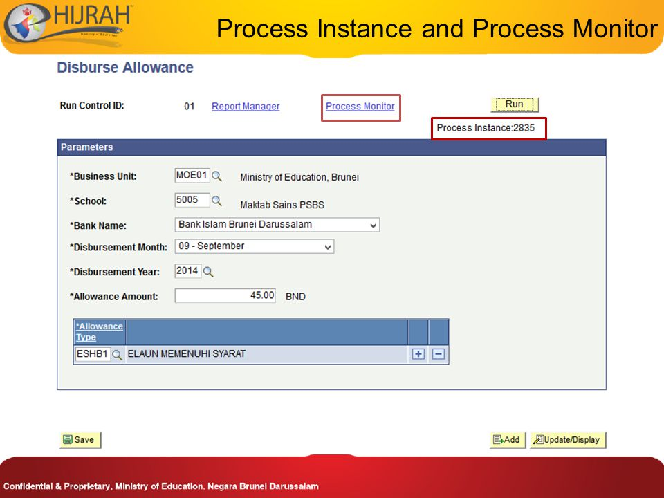 Process Instance and Process Monitor