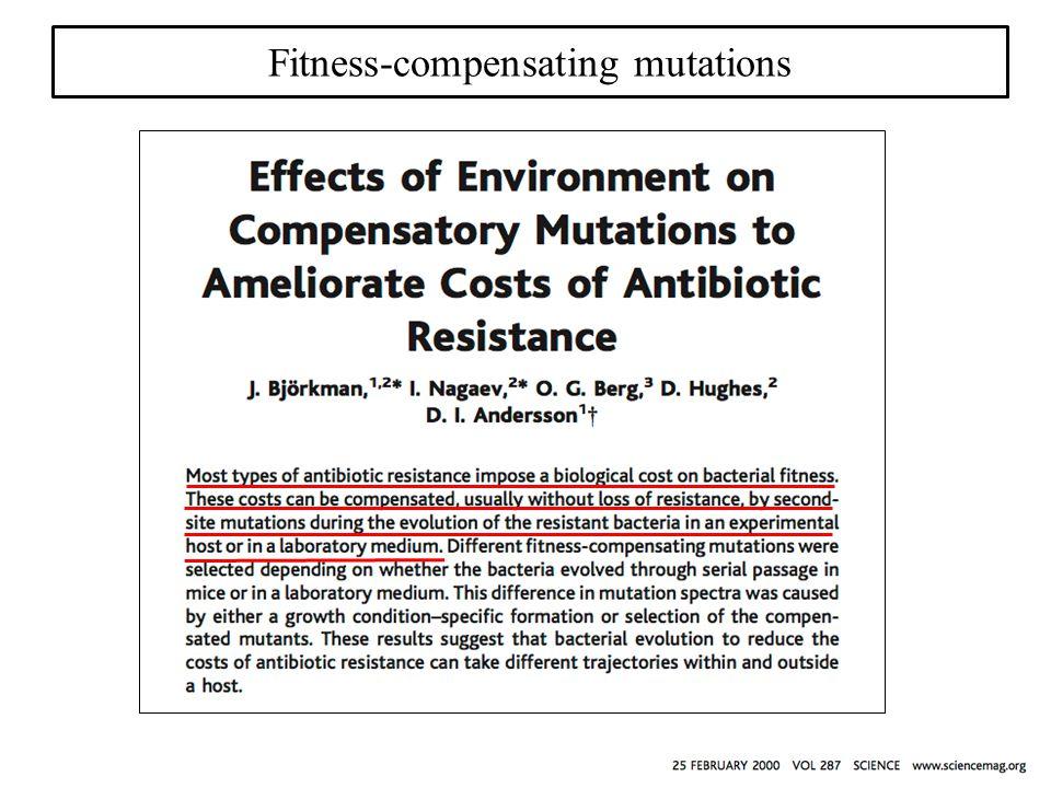 Fitness-compensating mutations