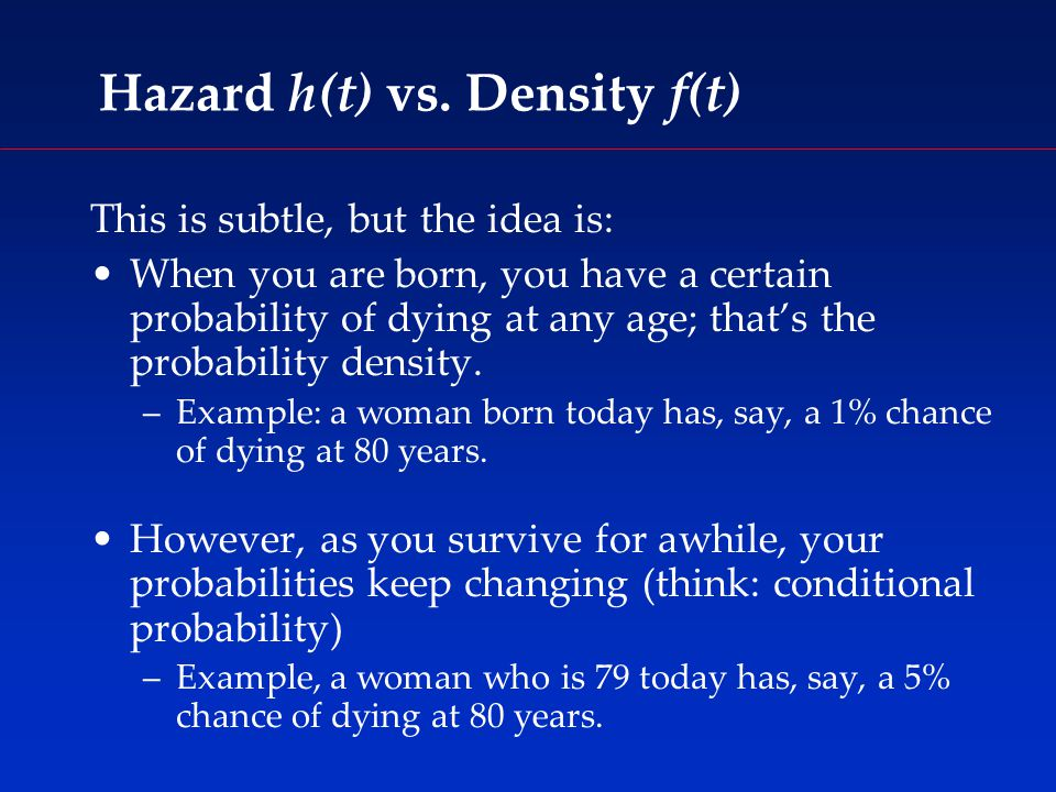 Hazard h(t) vs.