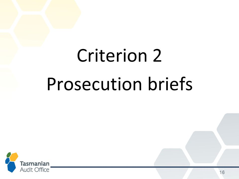 Criterion 2 Prosecution briefs 16