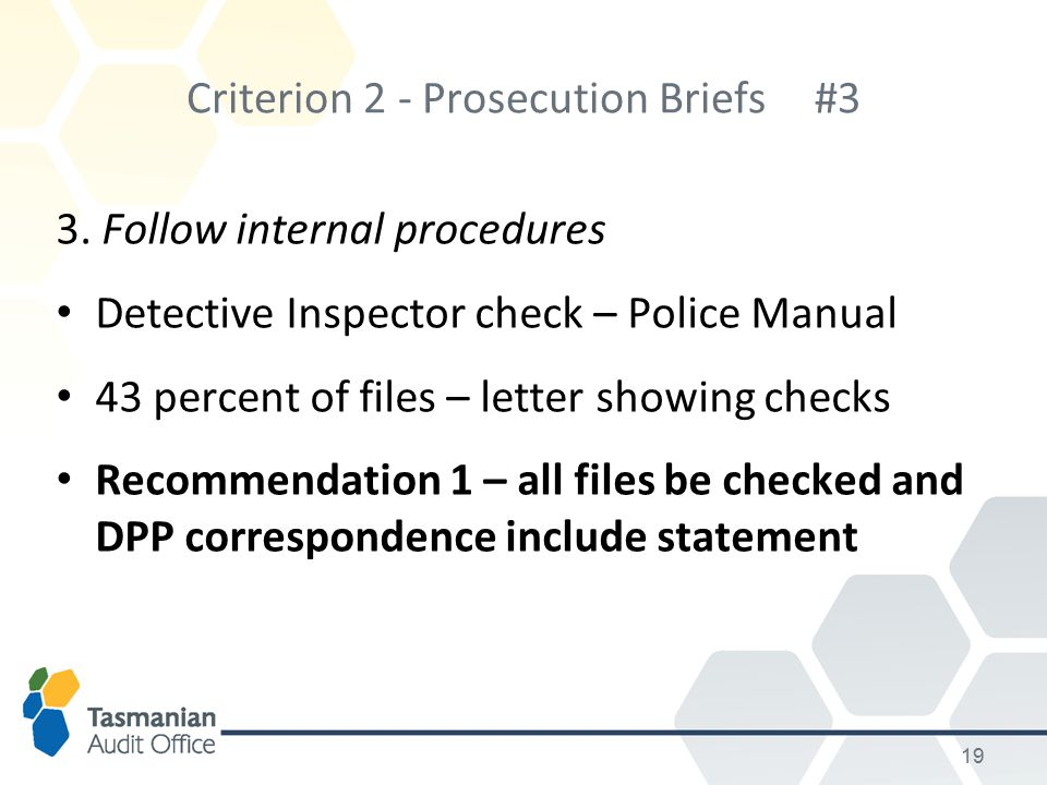 Criterion 2 - Prosecution Briefs #3 3.