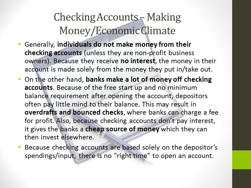 Opening Checking Accounts At the Bank of Hawaii, you can open a free checking account.