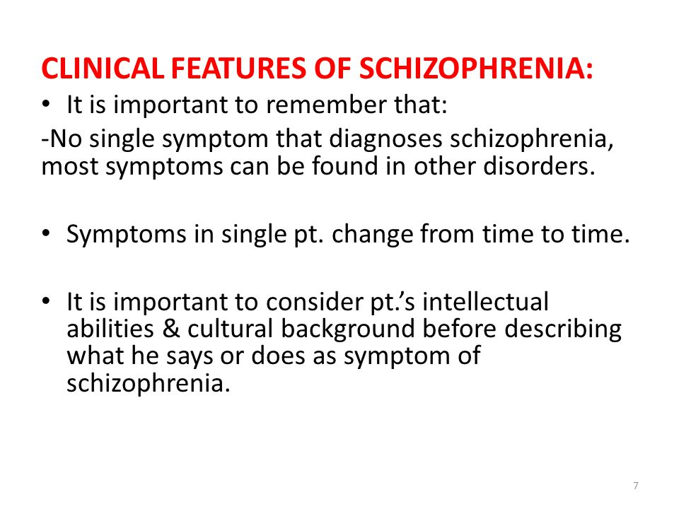 Course & prognosis of schizophrenia: -Onset is either acute over a few days or gradual over a few months.