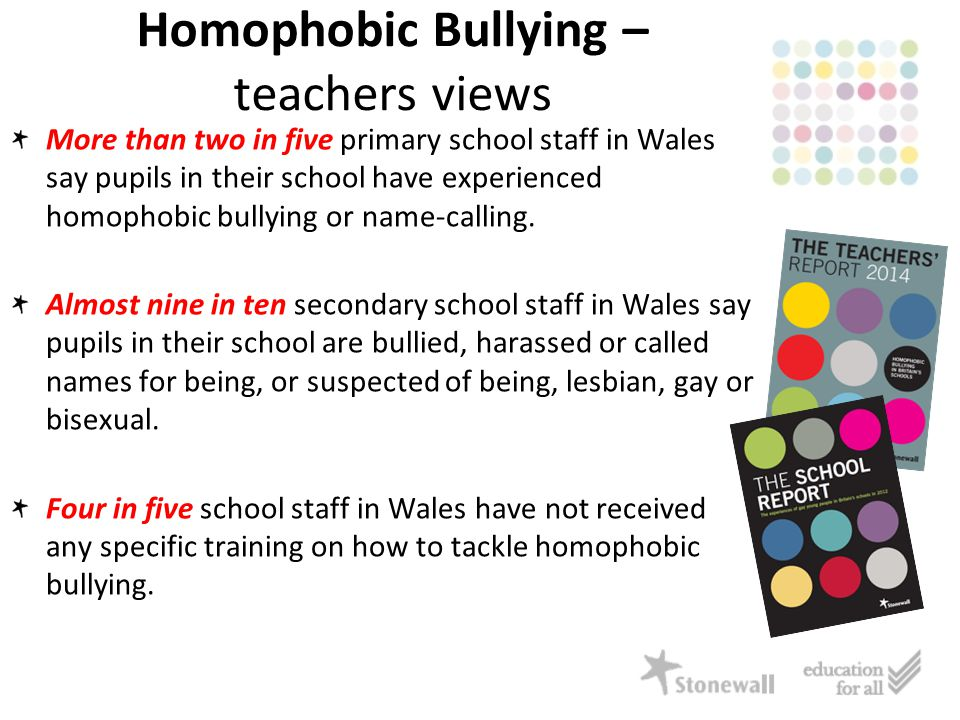 More than two in five primary school staff in Wales say pupils in their school have experienced homophobic bullying or name-calling.