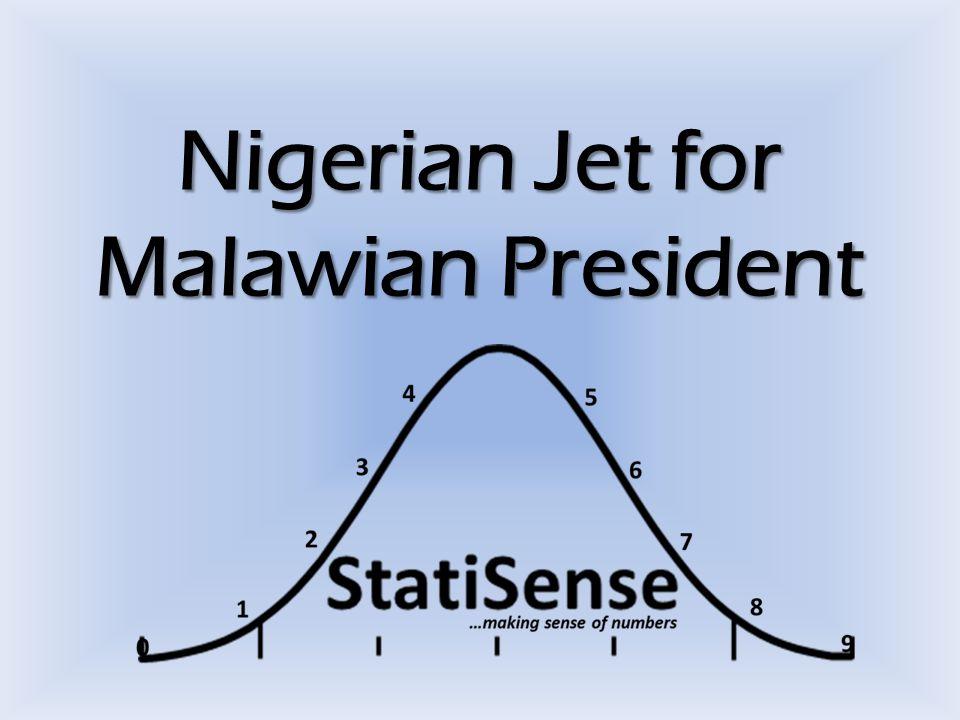 Nigerian Jet for Malawian President