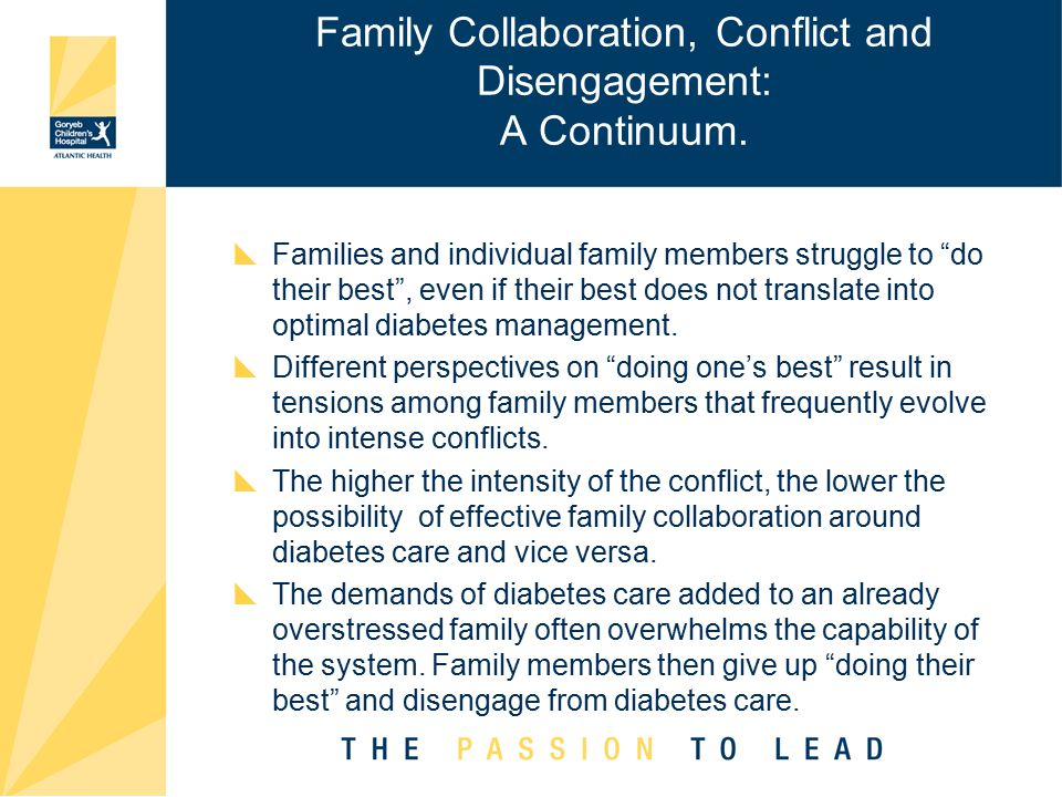 Family Collaboration, Conflict and Disengagement: A Continuum.