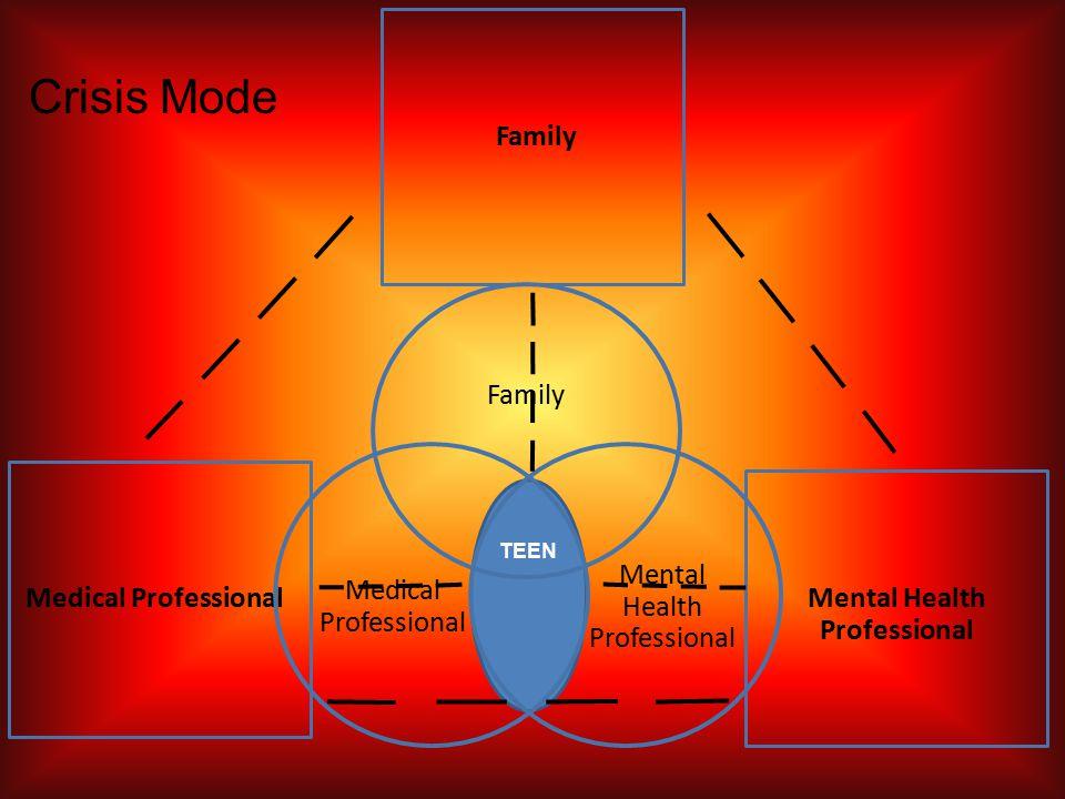 TEEN Medical Professional Mental Health Professional Crisis Mode Family Medical Professional Mental Health Professional
