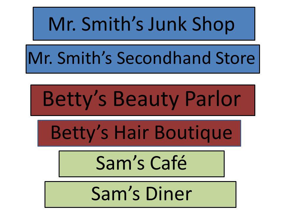 Mr. Smith's Junk Shop Mr.