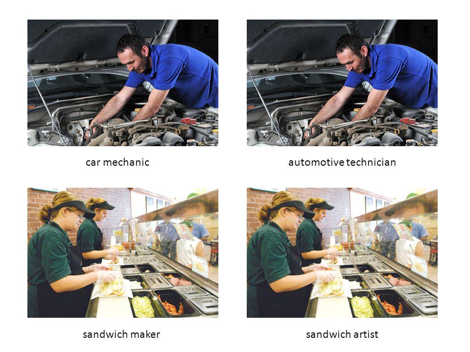 car mechanicautomotive technician sandwich makersandwich artist