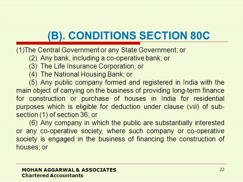 MOHAN AGGARWAL & ASSOCIATES Chartered Accountants 22 (B).