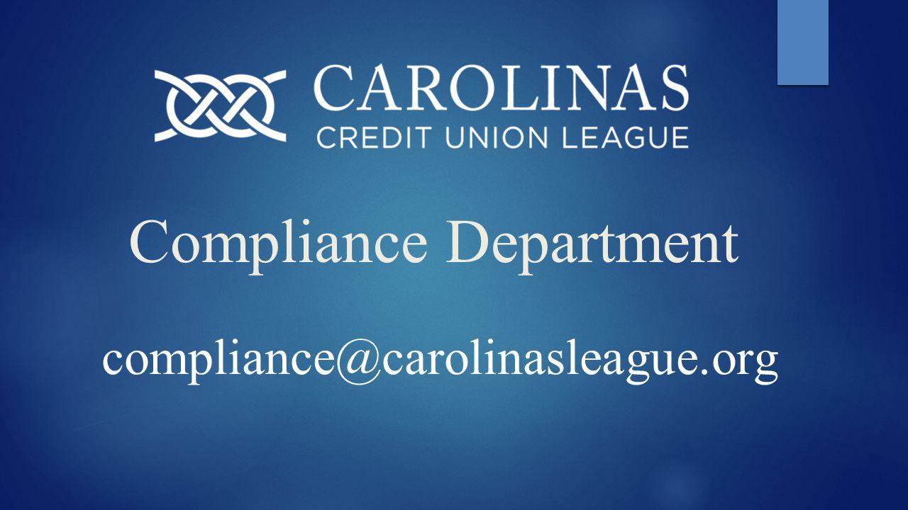 Compliance Department compliance@carolinasleague.org