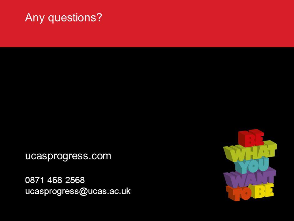 TITLE SLIDE – ALL CAPS [Font Arial (Heading) size 28 – align left ucasprogress.com 0871 468 2568 ucasprogress@ucas.ac.uk Any questions