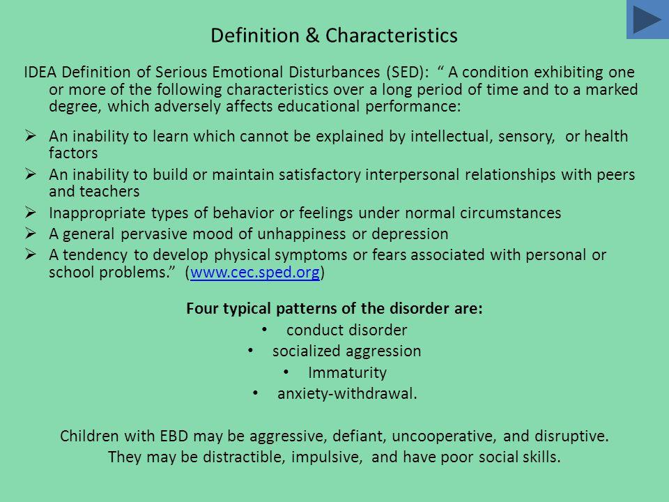 Emotional/Behavior Disorders Kimberly EllisPatricia Gonzalez Elyse GersbeckLori Miranda