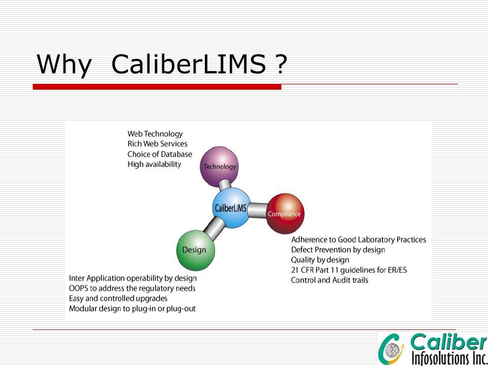 Why CaliberLIMS ?