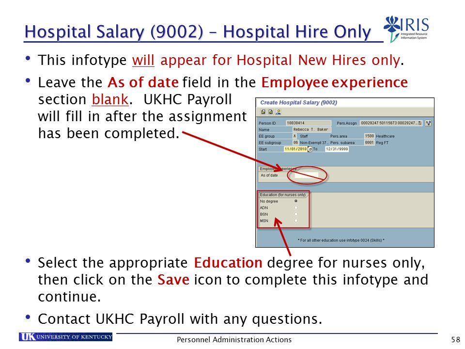 Person: Change Profile - Hospital Hire Only This screen will also appear for Hospital New Hires only.