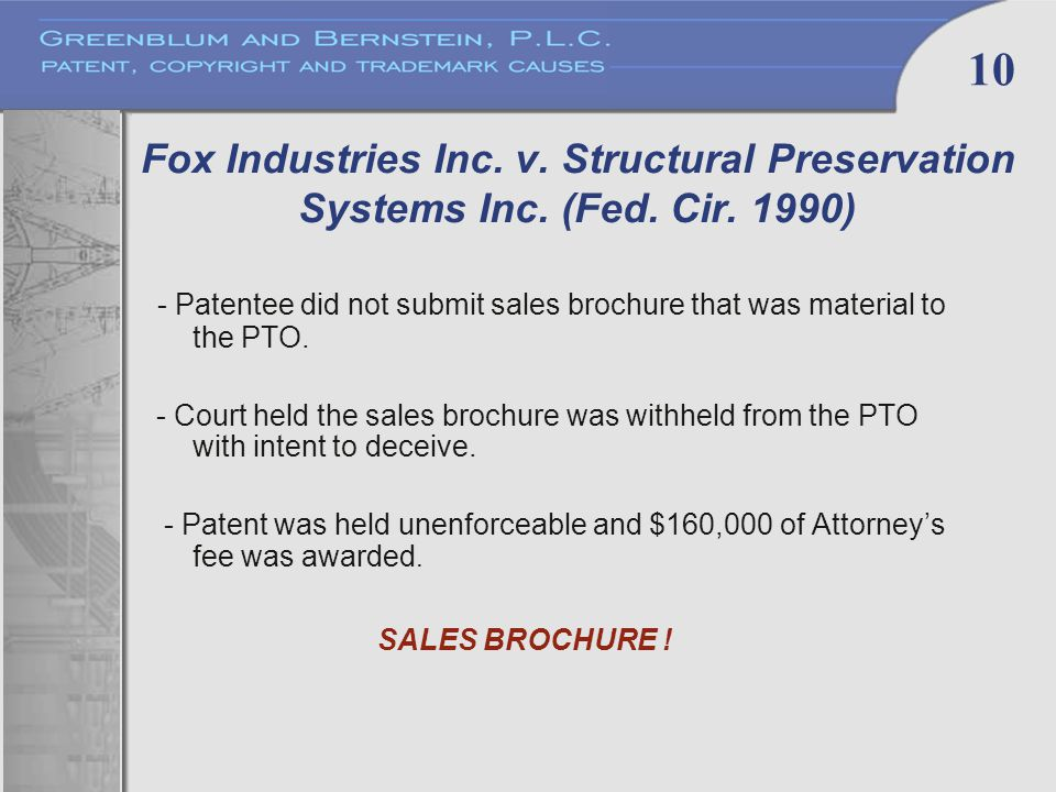 10 Fox Industries Inc. v. Structural Preservation Systems Inc.