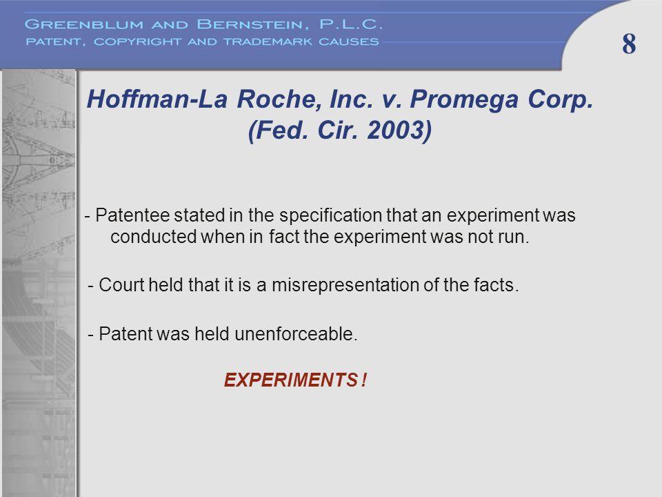8 Hoffman-La Roche, Inc. v. Promega Corp. (Fed.