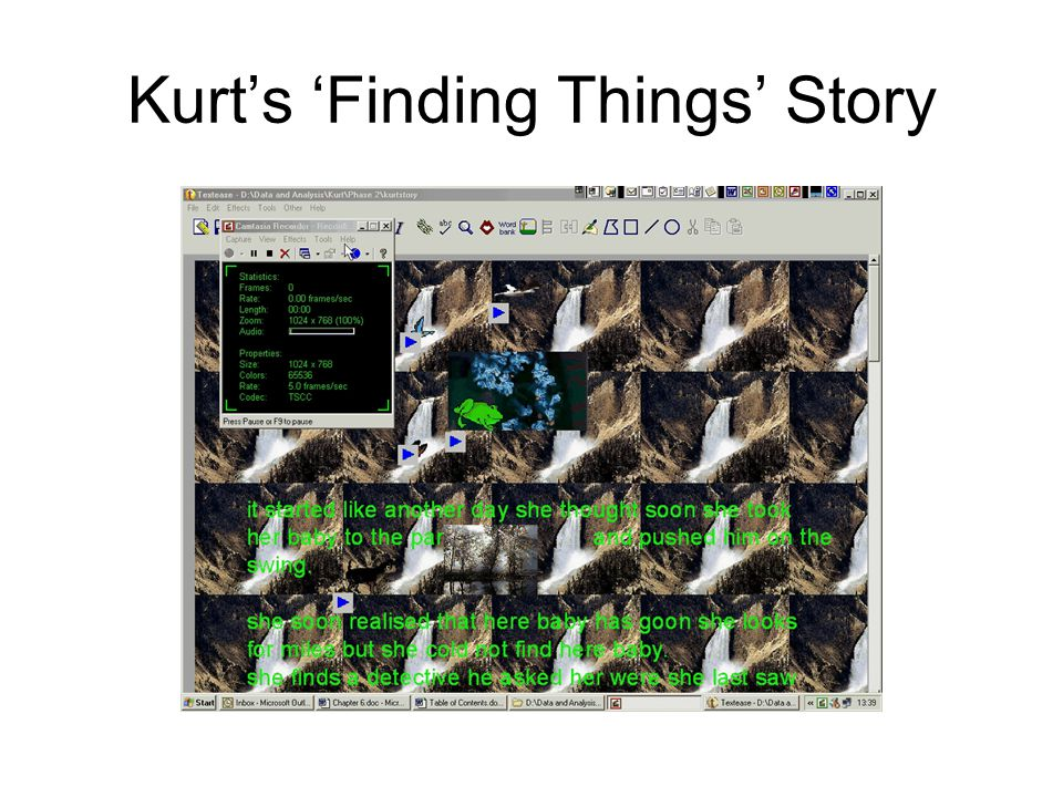 Kurt's 'Finding Things' Story Dr. Fern Faux. Email: fern.faux@bristol.ac.uk