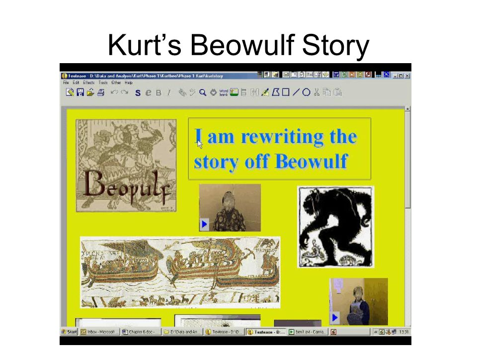 Talking about Beowulf Hey.I think I've got the hang of this.