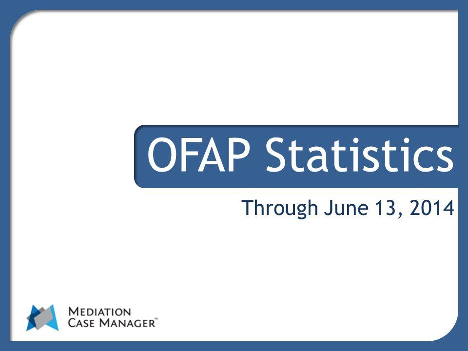 Through June 13, 2014 OFAP Statistics