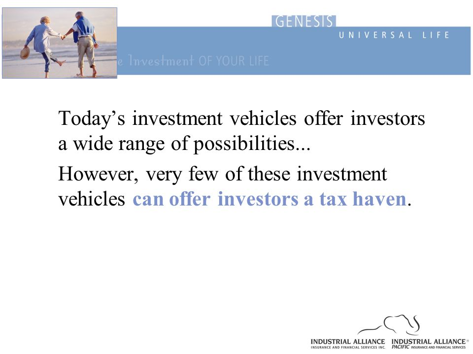 Today's investment vehicles offer investors a wide range of possibilities...
