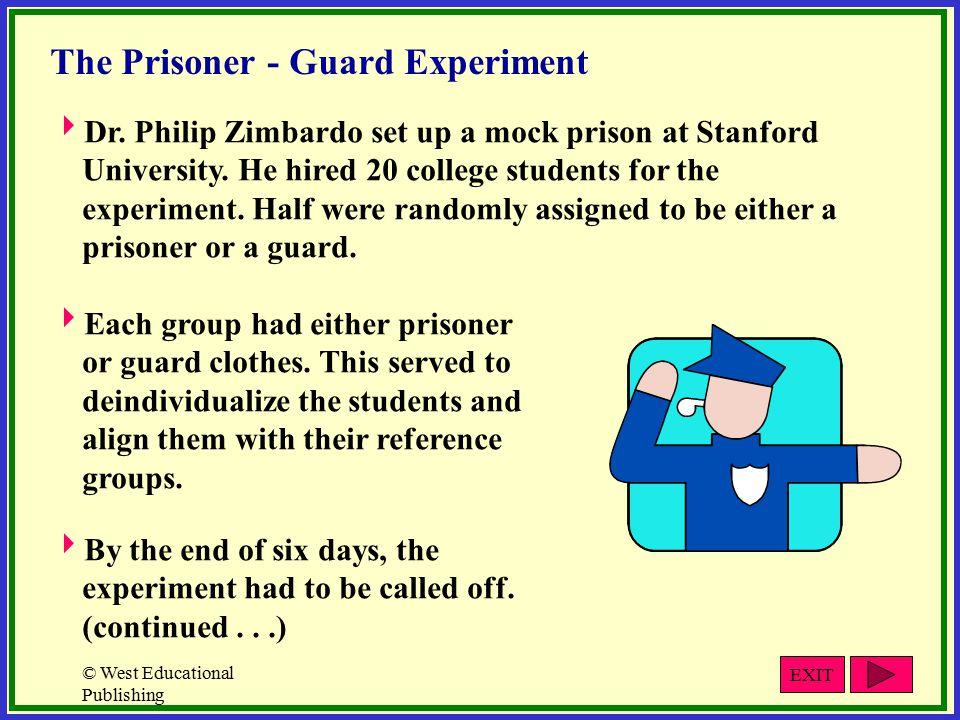 © West Educational Publishing The Prisoner - Guard Experiment  Dr.