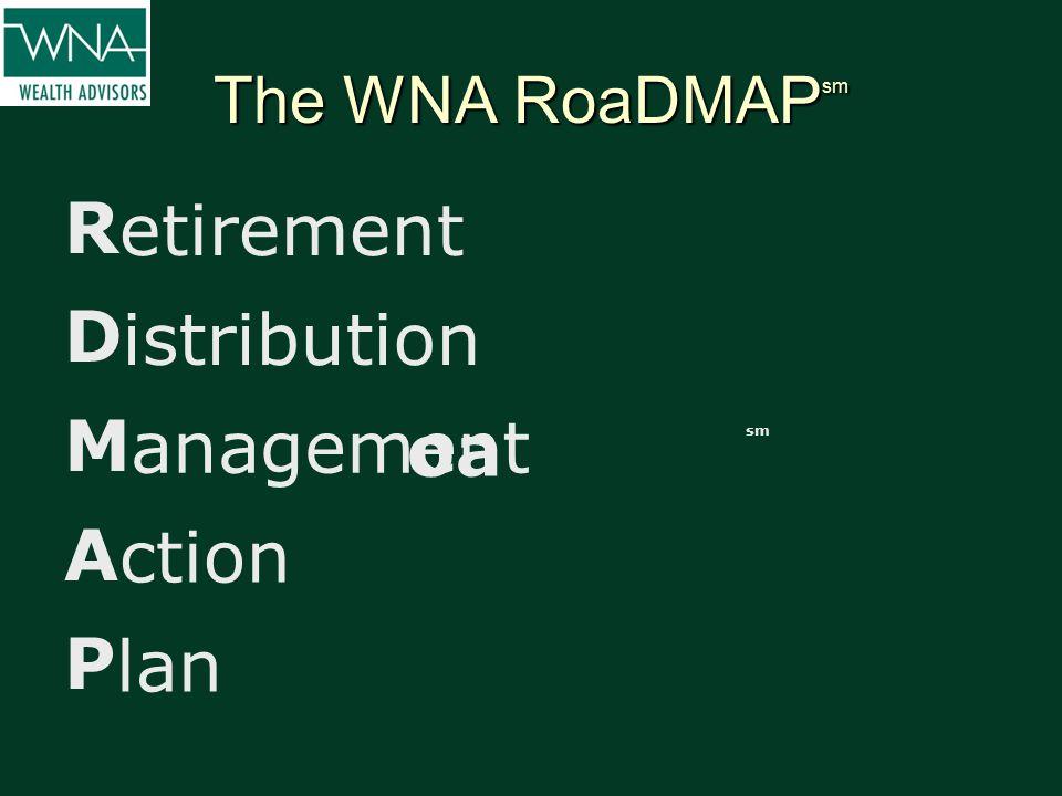 The WNA RoaDMAP sm R D M A P etirement istribution anagement ction lan oa sm