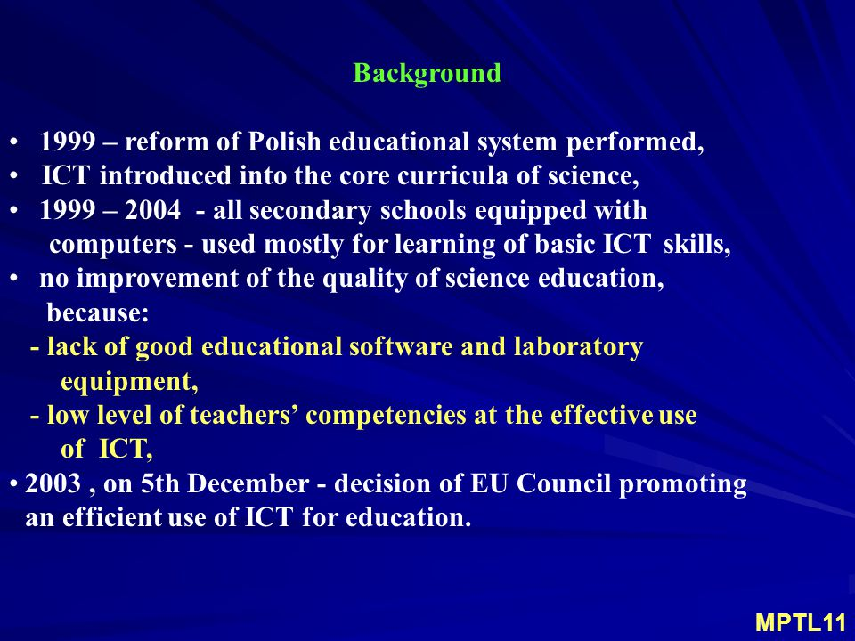  Target Groups: Teachers of science in schools age 10-18 and trainee teachers of science.