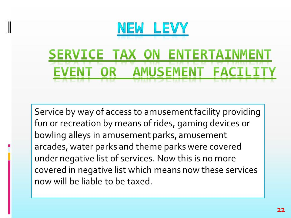 Service by way of access to amusement facility providing fun or recreation by means of rides, gaming devices or bowling alleys in amusement parks, amu
